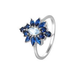 Criou o anel de safira 925 Sterling Silver Jóias/Acessórios/dom para as mulheres