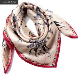 Usine de dessins et modèles client Square en pure soie Fashion femmes l'écharpe