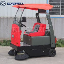 Nouveau design Industrial Electric Road Sweeper balayant la machine