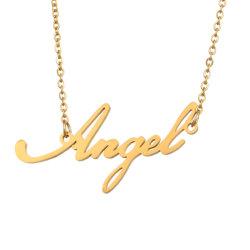 Custom Name Halskette Personalisierte anfängliche Ketten in Golden