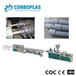 Máquina de extração de plástico dupla conduta elétrica de três camadas tripla dupla Drenagem de abastecimento de água drenagem tubo de mangueira UPVC para esgotos Linha de extrusão de produção