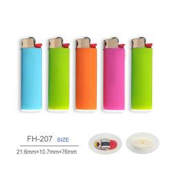 Ue ISO9994 de pedra de plástico fino de Cigarro Isqueiros a gás Fh-207