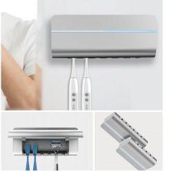 El cepillo de dientes 6pzas UVC con fuertes Sterilizatio electrónicos inteligentes esterilización Esterilizador UV Cepillo de Dientes soporte