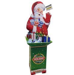 크리스마스 선물 소매 바닥 디스플레이 스탠드 판지 종이 덤프를 홍보합니다 빈