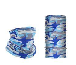 Camuflar lenço no pescoço com filtro de poliéster de refrigeração do bolso do fole do pescoço para homens