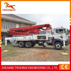 CE 인증 Truemax 콘크리트 기계 Tp38rz5 믹서 트레일러 유압 콘크리트 트럭 장착 붐 펌프