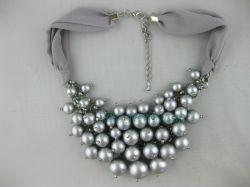Gewebe-Element der Art- und Weiseschmucksache-Perlen-Halsketten-W.