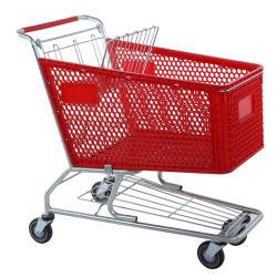 China Hersteller Resonable Preis Supermarkt Kunststoff, Shopping Trolley Warenkorb, Produkt Warenkorb Display