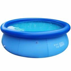 地上の庭の屋外の屋内膨脹可能な水泳のプールのフィルターおよび梯子とセットすること容易な円形の正方形PVCプールの鍋の瓶の上のDfaspo