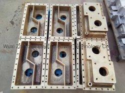 El cobre/bronce Fundición de latón/Intercambiador de calor la tapa del depósito/Componente fabricado por moldeado en arena