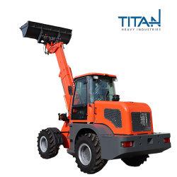 Titan chargeur télescopique installer différents accessoires tels que la fourche à palettes, de la neige le godet