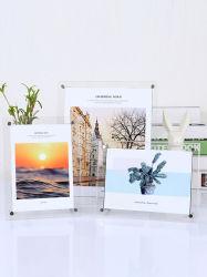 創造的なギフトの簡単なアクリルの写真フレームの水晶テーブル
