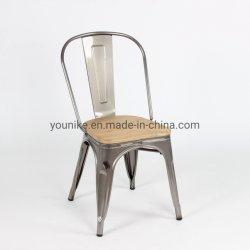 椅子の産業金属のスタック可能喫茶店の肘のない小椅子W/Woodを食事する明確なTolix