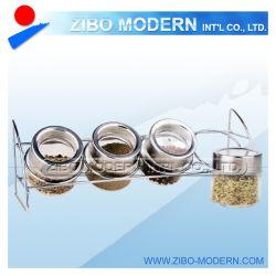 Metal Rack Best SellingのガラスCondiment Set Condiment Set