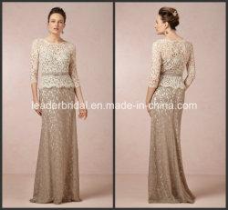 Мать шнурка платья вечера E151204 длинних втулок Шампань платья невесты официально
