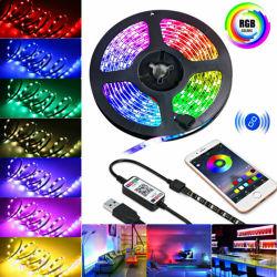 Индикатор Bluetooth USB газа освещение RGB 5050 SMD гибких ленточных Водонепроницаемый светодиодный индикатор 1 м 2 м 4 м 5 м лента Диод 5V приложения Bluetooth контроля