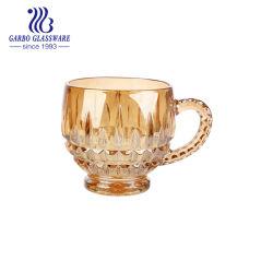Placage ionique 6.5oz tasse de thé avec verre gravé Design (GO090204N-DDB)