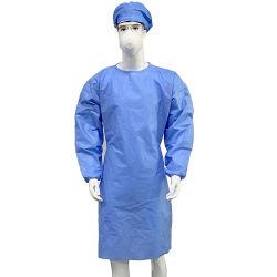 病院のスーツの反血SMS 45gの非生殖不能の防護衣の手術衣