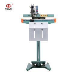Duo Qi SLP-350*1 de la industria alimentaria armazón de aluminio Pedal de pie de la máquina de sellado con la codificación de tira de cinta de color