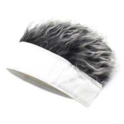 Cabelo Artificial Viseiras Fake Palas de cabelo Piscina Campo de Baseball Chapéus com cabelos falsos Peruca Hat