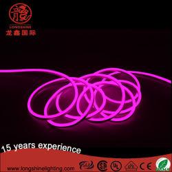LED 8W 12V/24V/110V/220V Rose puces SMD2835 Bande souple au néon de lumière pour la décoration de vacances