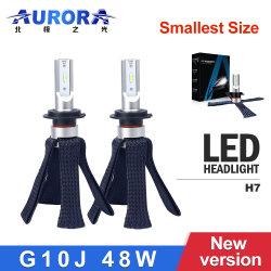 Aurora ODM OEM 12V 24V 58W Car levou a lâmpada do farol LED luzes HID H7 H8 H9, H10, H11, H16 Farol Esquerdo