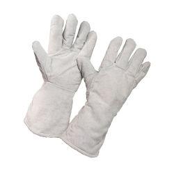 Commerce de gros plein cuir de vache de la sécurité de travail des gants de soudure