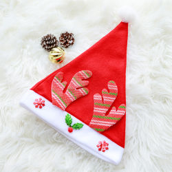 Cappelli caldi di natale di alta qualità delle calze di natale del merletto del fiocco di neve del cappello rosso di natale per la casa della decorazione