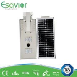 الطاقة الشمسية المدمجة في كل شيء في iavor 20 واط الطاقة الشمسية LED الطاقة الشمسية المتكاملة ضوء الشارع/الممر/الحدائق/ضوء الفيضان مع مستشعر الحركة