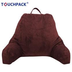 Suporte perfeito para relaxar o suporte lombar tecido veludo macio Leitura de cama com almofadas de espuma Shrred