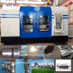 3つの5軸線連結CNCレーザー機械が付いている機械を堅くするレーザー