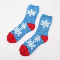 Super weiches starkes warmes Microfiber Hauptsocken-flockiges Hefterzufuhr-beiläufiges Socken-Frauen-Mädchen-flockige Hefterzufuhr-Socken