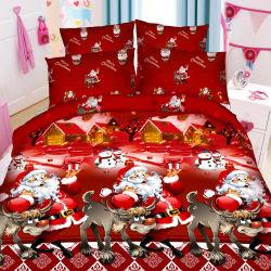 Banheira de venda de Natal Dia das Bruxas Xmas Festival Vermelho impresso 4 PCS/roupa de cama conjuntos de 6 PCS edredão definido a partir da China