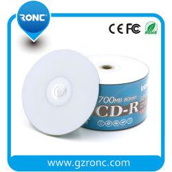 Completo de inyección de tinta en blanco para imprimir un CD-R 700MB 80min 52X