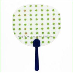 De promotie Aangepaste Ventilator van de Hand van pp, Plastic Vouwende Ventilator