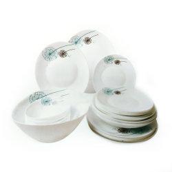 Vaatwerk 17PCS van het Glas van de hittebestendigheid het Opalen