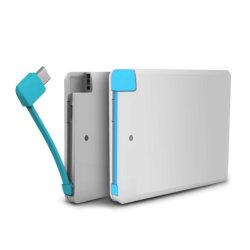 6개의 마이크로 컴퓨터 USB 배터리 충전기 Samsung 이동 전화를 위한 호리호리한 힘 은행 플러스 iPhone 7을%s 휴대용 Ultra-Thin 4.8mm 신용 카드 힘 은행