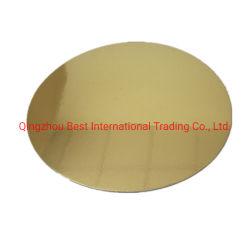 3mm starkes rundes Goldern u. silberner Pappunterseiten-Kuchen-Vorstand