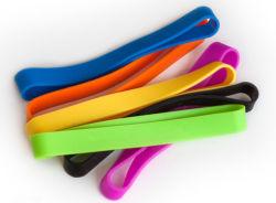 De verschillende Grootte paste dik het Elastische Rubber van de Elastieken van de Elastiekjes van het Silicone aan
