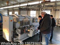 Janela UPVC máquina de fazer da porta para o perfil de Corte/Portas de vidro de alumínio cabeça dupla serra de corte CNC/janela Perfil de alumínio/Máquina Serra de esquadria duplo