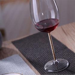 Commerce de gros cristaux de faible MOQ Gobelet élégant de la bouche sans plomb fondu Verre à vin