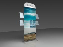 Messeen-Broschüre-Bildschirmanzeige mit vier kleines Pocket Shelfs