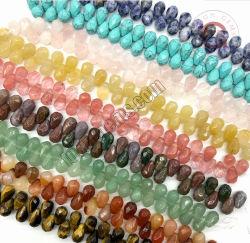 Necklace Bijoux Semi-Precious gemme d'usine de pièces de gros 8x12mm chute à facettes