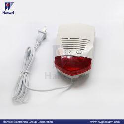 AC110/220V Co Warnungs-an der Wand befestigter Kohlenmonoxid-Detektor mit Sicht- und akustischem Signal für inländisches Wertpapier