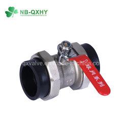 Núcleo de Ferro de HDPE ISO tomada de água ligação dupla Válvula de Esfera