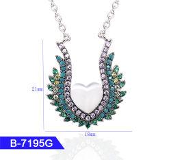 Hotsale 925 Sterling Silver ou en laiton robes de mariée bijoux Multicolor CZ Pendentif en pierre pour les femmes