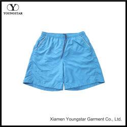 Placa azul de los hombres Shorts Shorts nadar enlaces con bolsillos reflectantes