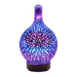 Verspreider van de Olie van de Lucht van het Glas van de Luchtbevochtiger van het aroma 3D Verspreider van het Aroma van 100 Ml de Elektrische met LEIDENE Lichten