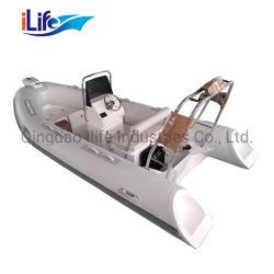 0,9 mm PVC marcação 4.3 M novo entretenimento casco de fibra de vidro costela rígida barco inflável 430