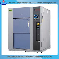 2 zones de température stable de cyclisme de choc thermique de l'environnement de laboratoire de l'équipement de test